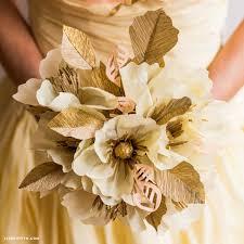 Paper Flower Bouquet Tutorial Crepe Paper Wedding Bouquet Lia Griffith