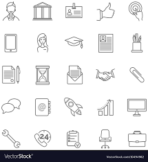 Free Resume Icons Resume Icons Set Royalty Free Vector Image VectorStock 8