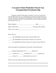 Permission Slip Forms Template 18 Printable Transportation Permission Slip Template Forms