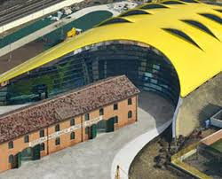 It is the largest in the world an Museo Enzo Ferrari Museum Featuring Barrisol Stretch Ceiling