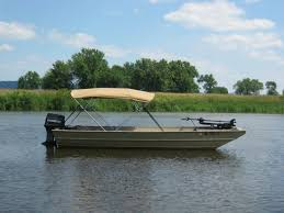bimini tops are available for all sizes and styles of boats here s an aluminum jon