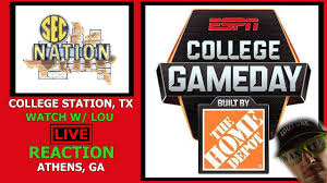 LIVE REACTION | ESPN COLLEGE GAMEDAY GEORGIA VS ...