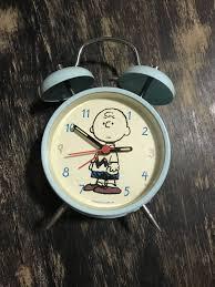 charlie brown metal bells ringing alarm clock