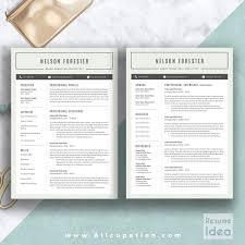 Exquisite Design 2 Page Resume Template Marvelous Ideas Creative