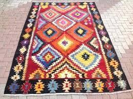 multi colored area rug vintage rugs turkish kilim