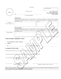 restraining order ministry of the attorney general image of form 25h page 1