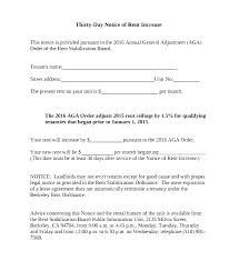 Notice Of Rent Increase Form Salary Increase Notification Letter Rent Increase Letter