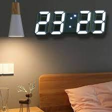 led night wall clock 3d digital alarm
