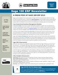 sage partner marketing newsletter samples q