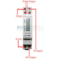 single phase electric meter wiring diagram data wiring diagrams \u2022 wiring diagram kwh meter 1 fasa single phase electricity kwh sub meter 45 amp rh reductionrevolution com au single phase energy meter wiring diagram single phase energy meter connection