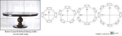 4 seater round dining table dimensions tables