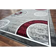ideas red and gray area rugs incredible grey gy modern black inside white rug 5x7