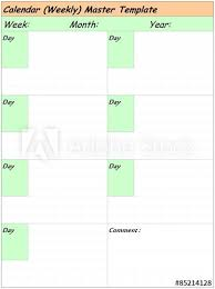 Calendar To Fill In Calendar Weekly Master Template Free To Fill In On Your