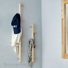 Wall Mounted Tree Coat Rack Magnificent Wall Mounted Coat Rack With Hooks Modern Design Solid Wooden Wall