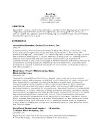 Example Of Resume Objectives Classy Resume Objective Examples Machine Operator And Machine Operator