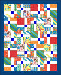 Baby Quilt Blitz-Day 4 - Patchwork Sampler & Here is another idea for an easy charm pack baby quilt. This is a picture  of a quilt I DID make from a Villa Rosa Rosecard pattern called La France. Adamdwight.com
