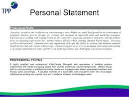Sample Profile Statement For Resume resume Resume Personal Statement Examples 54