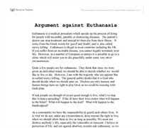 euthanasia against essay arguments against euthanasia gcse religious studies