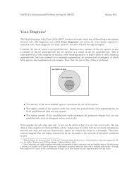 Venn Diagram Quadrilaterals Venn Diagrams Xavier University Computer Science Pages 1 11
