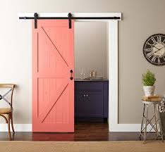pleted barn door installation