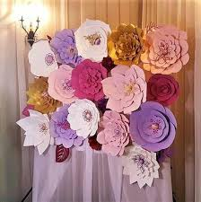 Paper Flower Photo Booth Backdrop Photo Booth Backdrop Paper Flower Wall Wedding Backdrop Set Of 19