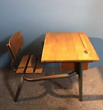 wooden school desk and chair. A Vintage French School Desk And Chair Wooden I
