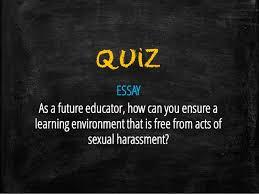 ra sexual harassment act 37 quiz essay