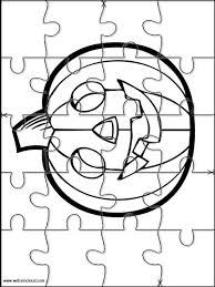 Small Picture Printable jigsaw puzzles to cut out for kids Halloween 23 Coloring