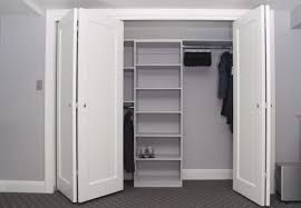 all white closet ideas with folding door