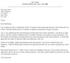 Legal Cover Letter Samples Sample Assistant No Experience