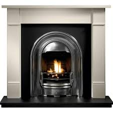 gallery brompton limestone fireplace includes sutton cast iron arch