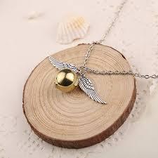 harry potter golden snitch necklace bracelet set