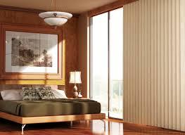 image of brown sliding glass door blinds