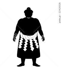 大相撲力士立ち姿シルエット素材のイラスト素材 22428326 Pixta