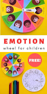 Emotion Chart For Kids Free Printable Mood Emotion Wheel Chart For Children