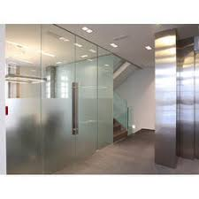 Office glass door designs Milky Glass Standard Frame Less Glass Door Indiamart Frameless Glass Doors At Best Price In India