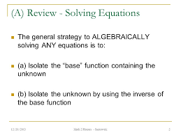 2 a review solving equations