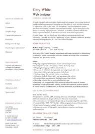 Web Design Resume Template Web Developer Resume Example Cv Designer Template  Development