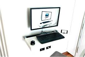 wall mounted computer mount station elegant desk for home design drop decor 6 diy wall mounted computer