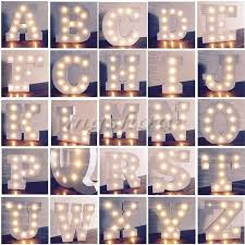 led letter light alphabet letter lights led light up white wooden letters standing hanging led letter