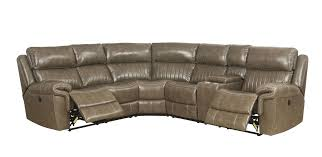 lonna taupe leather sectional recliner 54600 av