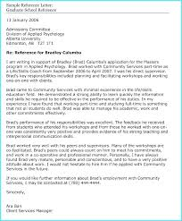 Reference Letter For Graduate School From Coworker Sample Reference