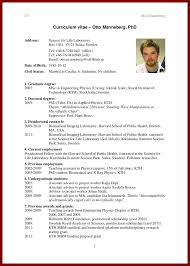 Phd Candidate Resume Sample David Freese Ee Phd Candidate Chic