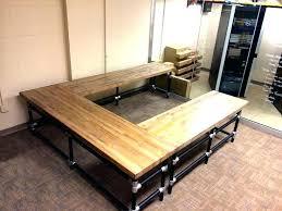butcher block desk butcher block office desk u shaped butcher block desk desk in butcher block butcher block desk