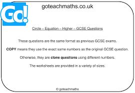 ppt circle equation higher gcse