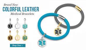 fashionable stylish lamb leather al id bracelets