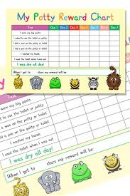 Reusable Reward Charts For Toddlers Reusable Potty Toilet Training Reward Chart Complete With