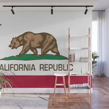 california flag wall mural by