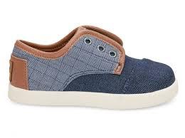 Toms Tiny Shoe Size Chart Blue Denim Textile Tiny Toms Paseo Sneakers