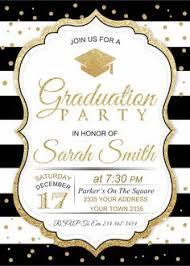 Graduation Celebration Invitation Black Background Graduation